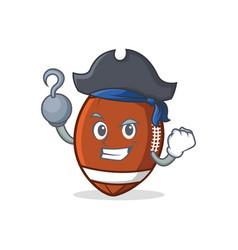 pirate american football character cartoon vector image vector image