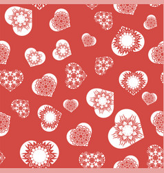 white hearts seamless pattern vector image vector image
