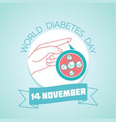 world diabetes day 14 november vector image vector image