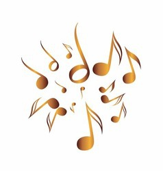 Classical Music Pack icon symbol golden vector image vector image