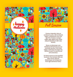 flyer template of happy autumn vector image
