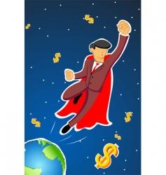 flying businessman vector image