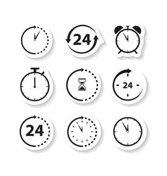 non stop time sticker icons vector image