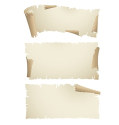 old paper scroll banners vector image vector image