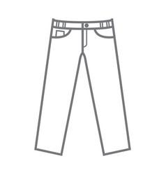 plain uncoloured mockup trousers vector image