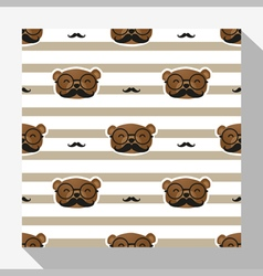 Animal seamless pattern collection with bear 3 vector image