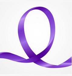 awareness purple ribbon vector image