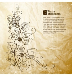 Bindweed on a paper background vector image