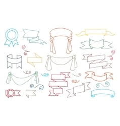 Doodle Banners Set vector image