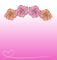 Drawing of desert rose on pink background vector image vector image