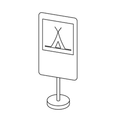 Guide road sign icon in outline style isolated on vector image vector image
