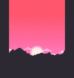 starry sunrise vector image