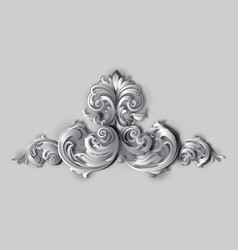 3d flourishes vector image