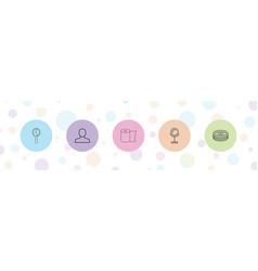 5 bathroom icons vector