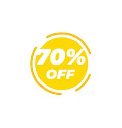 70 percent off sale label design template vector