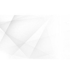 Abstract geometric white and gray color elegant vector