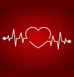 abstract heart beats cardiogram cardiology dark vector image