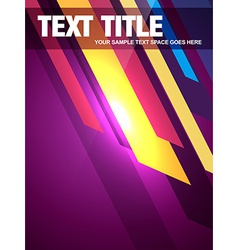 Abstract magazine cover vector