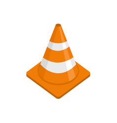 alert cone icon flat style vector image