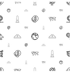 America icons pattern seamless white background vector