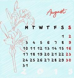 August 2015 flowers vector