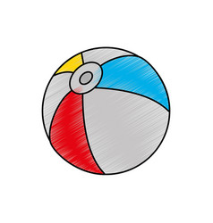 beach ball design vector image