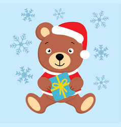 bear and present vector image