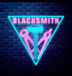 blacksmith graphic vintage emblem vector image