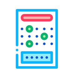 board game icon outline vector image
