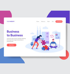 business to business vector image