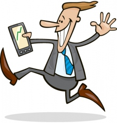 businessman happy for share rises vector image