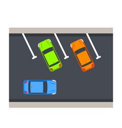 car parking vector image