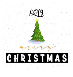 congratulations happy new year and merry christmas vector image