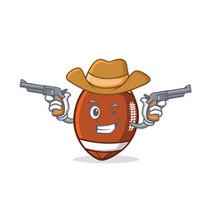 Cowboy american football character cartoon vector