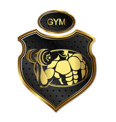 Design for gym and bodybuilding vector
