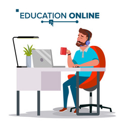 Education online home online education vector