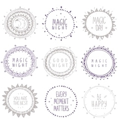 Ethnic circle set vector