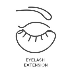 eyelash extension cosmetic and beauty salon vector image