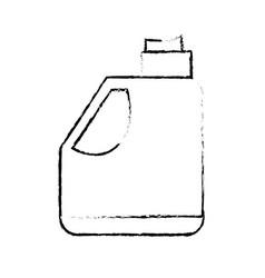 Figure gasoline bottle to car industrial equipment vector