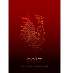 Fire Rooster Chinese New Year Symbol vector