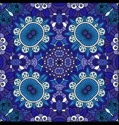 floral blue decorative doolde background vector image vector image