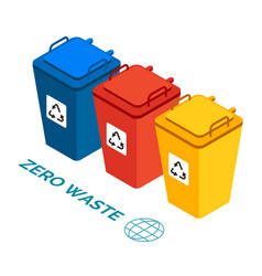 garbage containers refuse sorting concept waste vector image