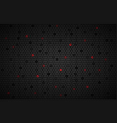 geometric polygons background with red polygons vector image