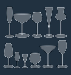 Glasses Set icon vector image