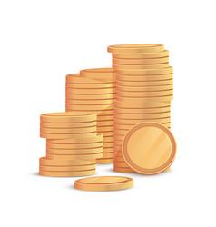 Golden coins heap vector