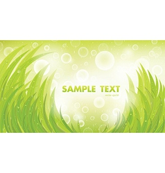 Green natural background vector