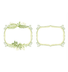 Greenery hand drawn branch border for cards vector