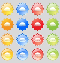 Hamburger icon sign Big set of 16 colorful modern vector image