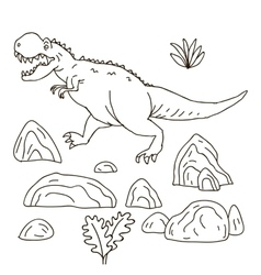 hand drawn jurassic vector image