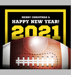 happy new year 2021 on background a ball vector image